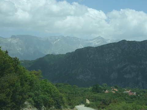 View towards the mountains of Epirus