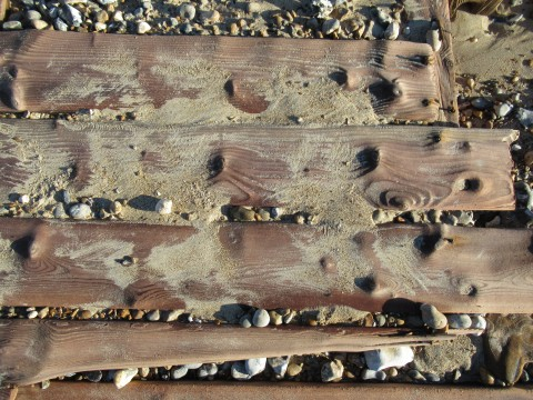 Rows of worn planks