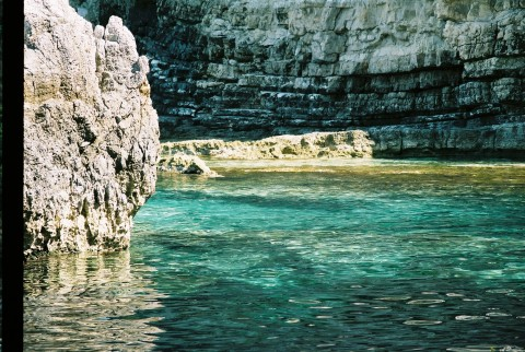 Turquoise waters of caves